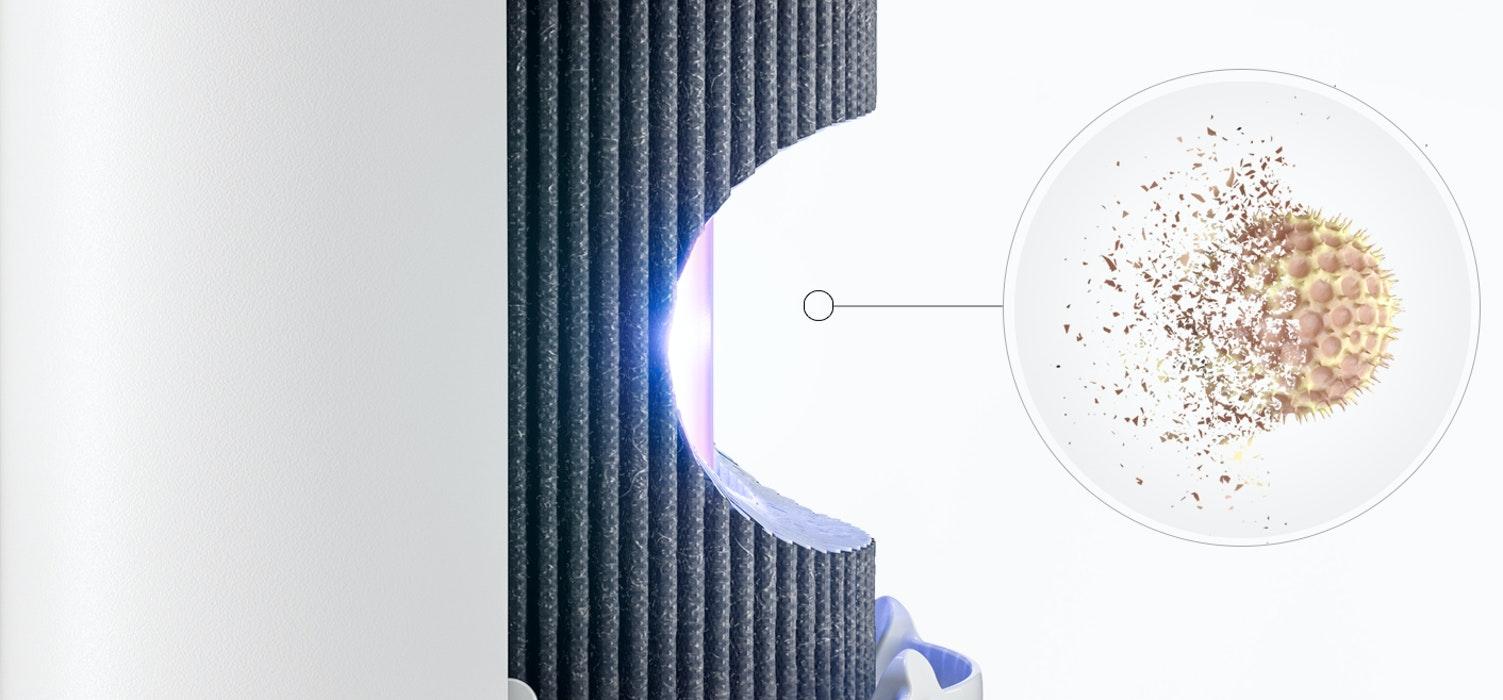 空気清浄機Molekule Air Mini+(モレキュル エアー ミニ+)は広範囲な汚染物質を除去できる高性能なPECOフィルターを搭載